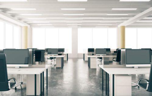 empty office corvid-19